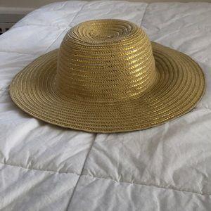 Girls' Gold Straw Hat